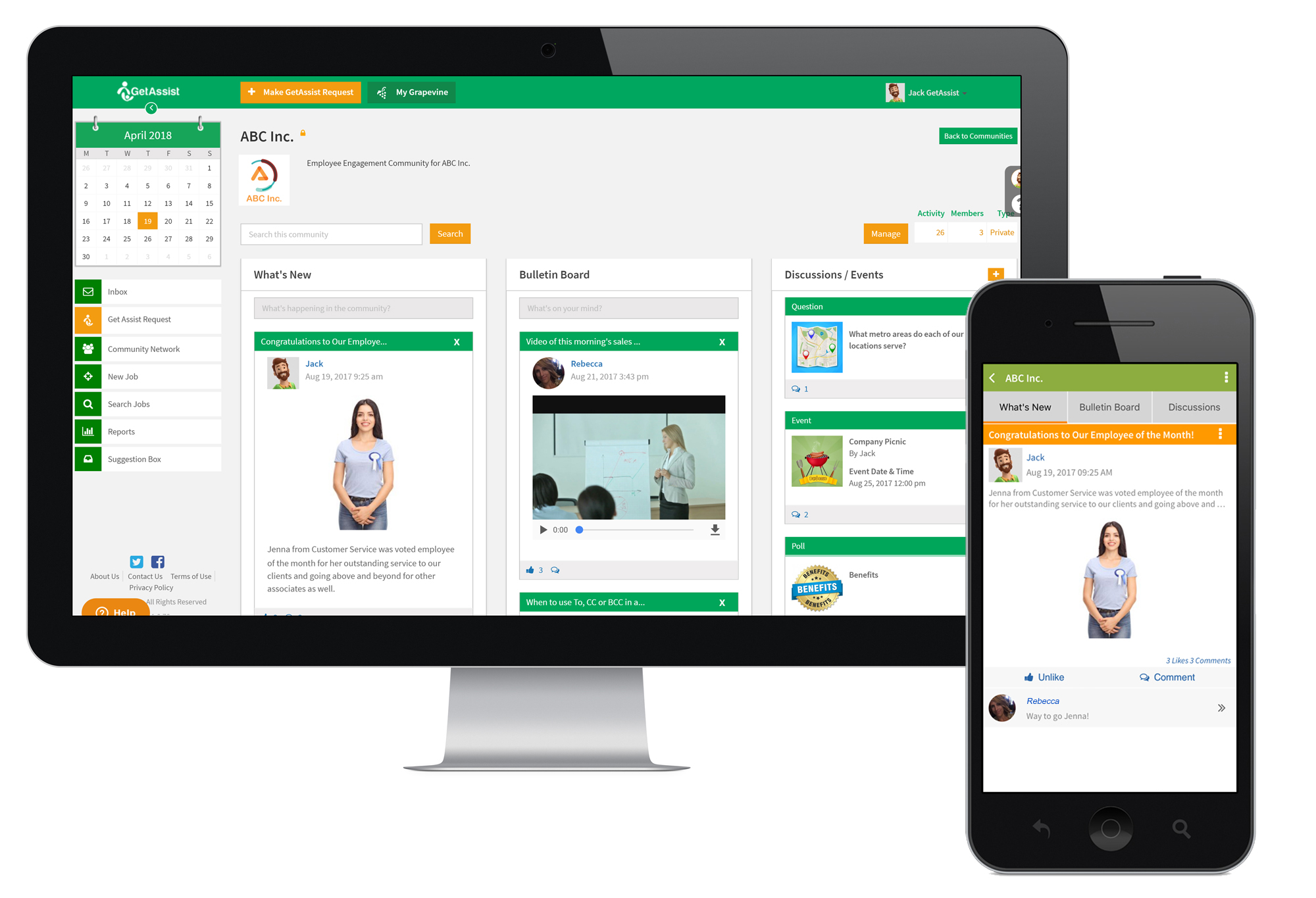Employee Communication App GetAssist