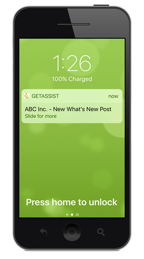 employee engagement app notification