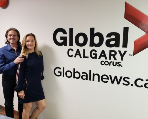 Bruce and Kim Fikowski at Global News Calgary