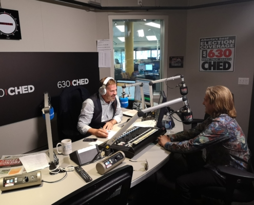 Bruce On Radio Set in Edmonton