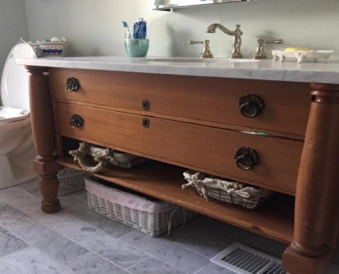 2018 bathroom trends dresser vanity