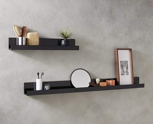 2018 bathroom trends floating shelves