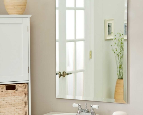 2018 bathroom trends simple mirrors