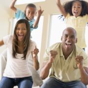 Family cheering