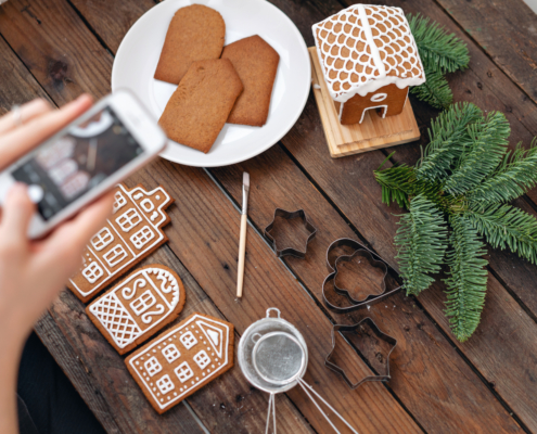 virtual gingerbread party