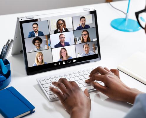 webinar on video chat